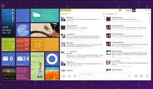 Second monitor Windows 8 style desktop by Dannydeman