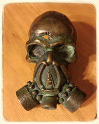 Bullet Hole Gas Mask - Belt Buckle
