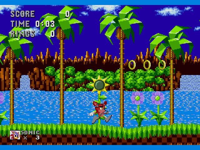 Foxy in Sonic the Hedgehog 1 ROM hack by ultrakirbyfan100 on DeviantArt
