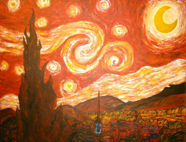 Red Starry Night By Kimmie028 On Deviantart