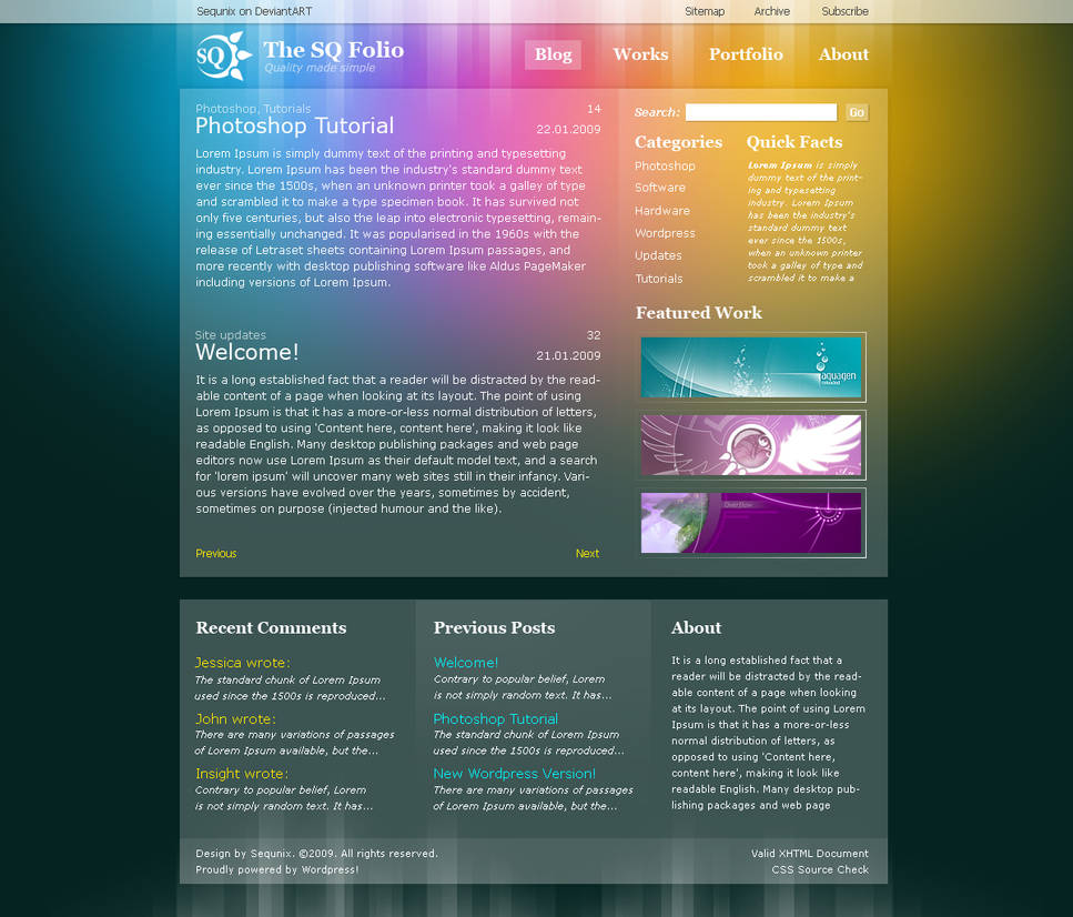 Wordpress Theme Design 1