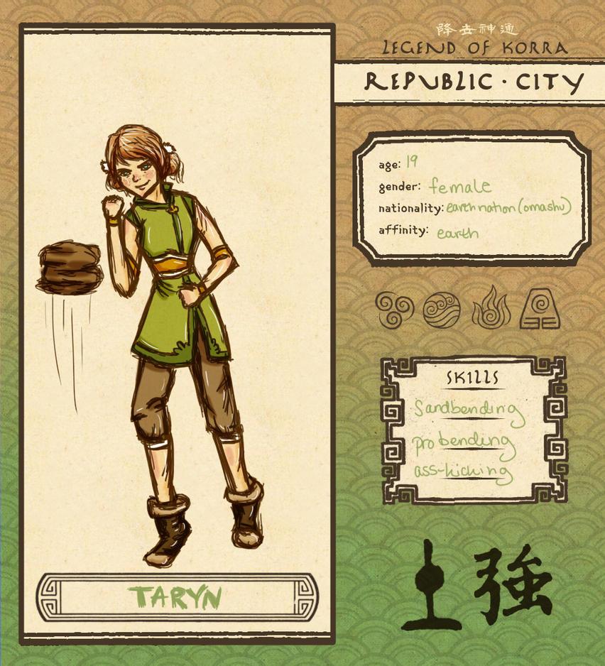 Taryn- Legend of Korra OC by LittleMsArtsy