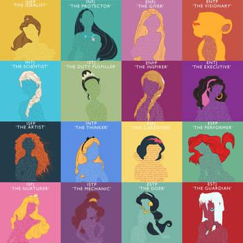 Myers Briggs Disney Princesses and Heroines by LittleMsArtsy