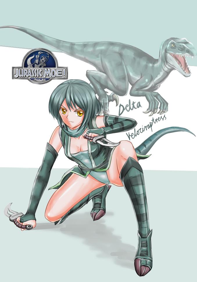 Jurassic Moe Velociraptress Delta By Crazy Shark On Deviantart