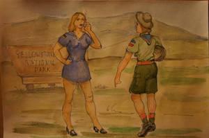 Yellowstone spanking 1 by Gesperax