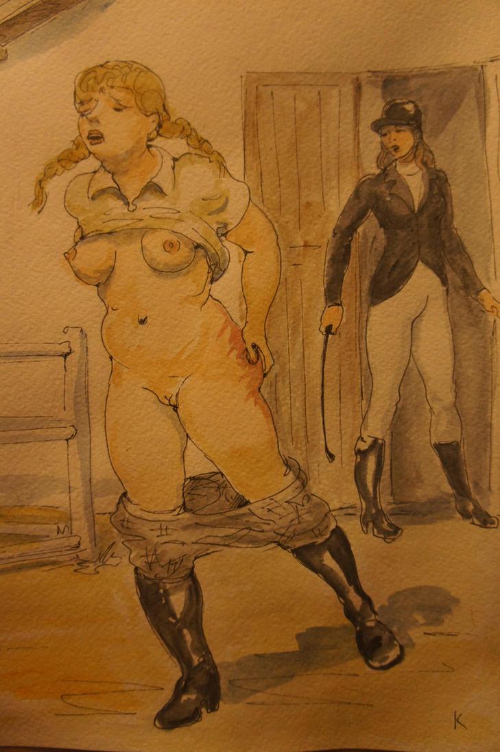 Light-fingered stable girl 4 by Gesperax
