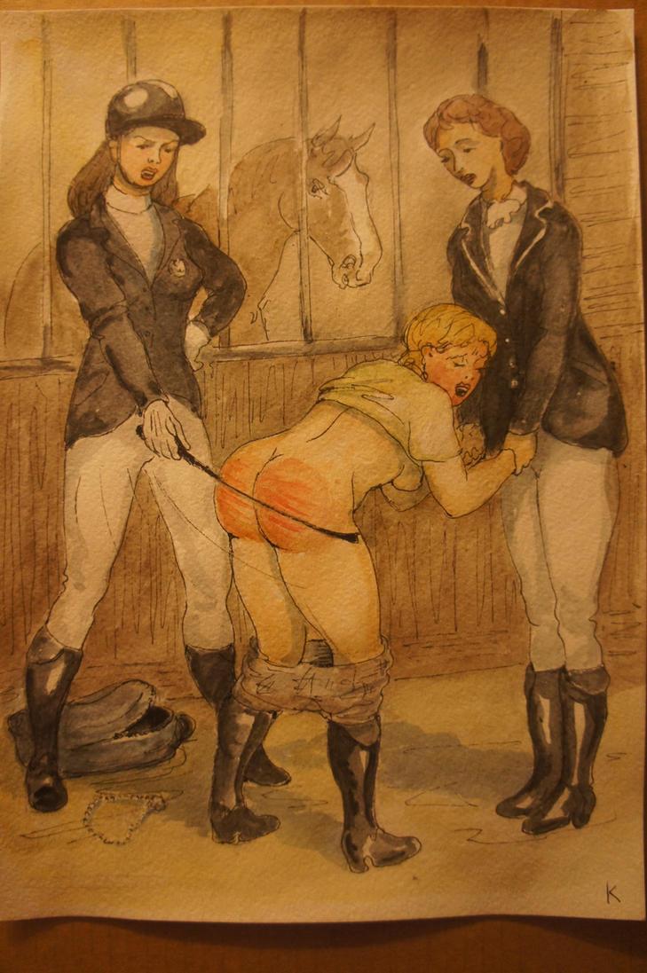 Light-fingered stable girl 3 by Gesperax