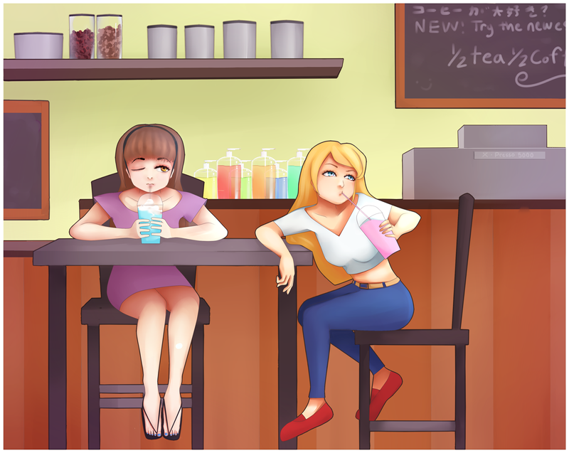 Tweens At Starbucks by Yay-123