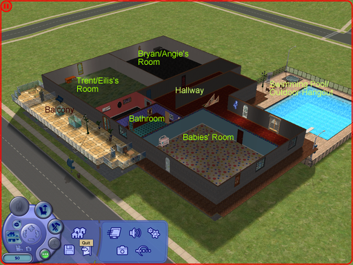 Sims 2 boj home 2nd floor by trombonegothgirl84 on for How to make a second floor on sims freeplay