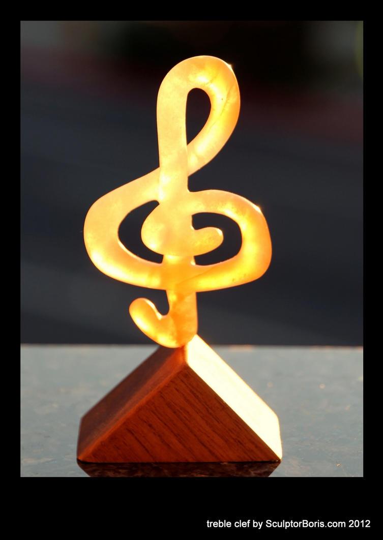 treble clef 2012 - backlit by SculptorBoris