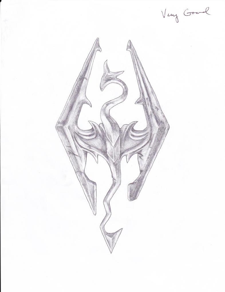 Skyrim dragon by fakeupchuck on deviantart