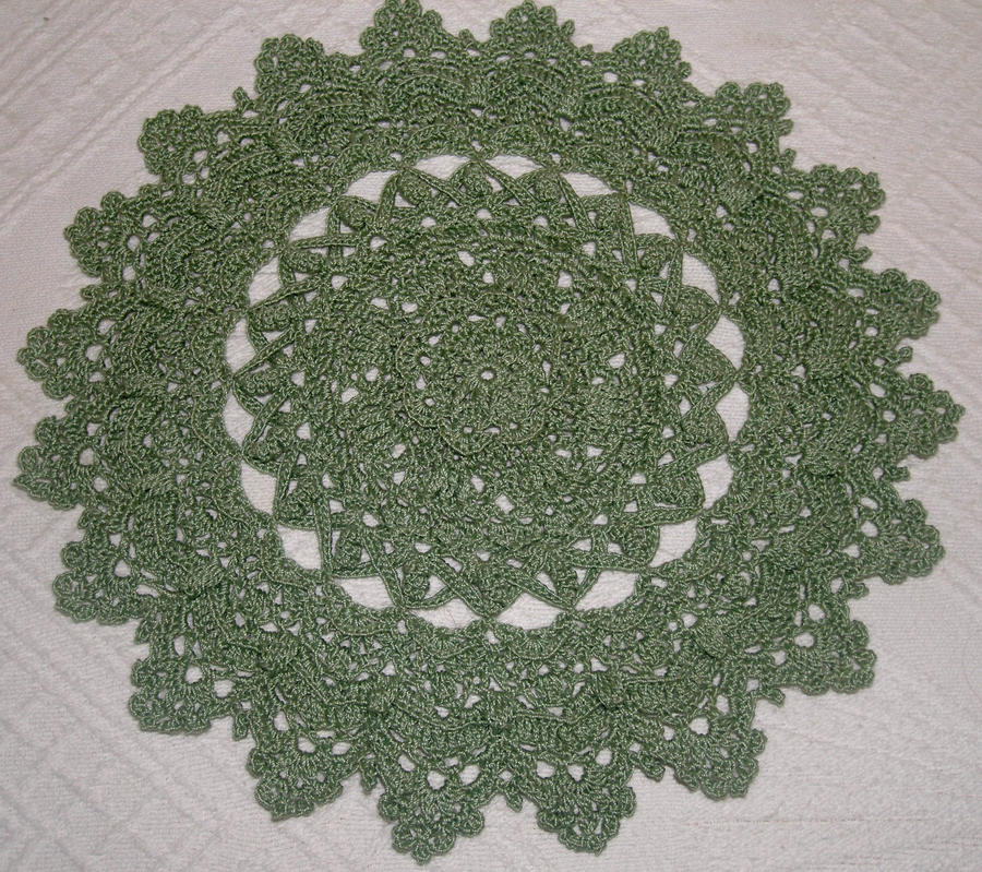 Sage Green Doily by Eidons-Servant