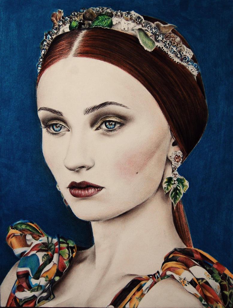 Sophie Turner by Valontine