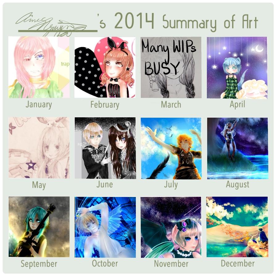 Monthly Art Improvement Meme 2014 by HeartTeddies
