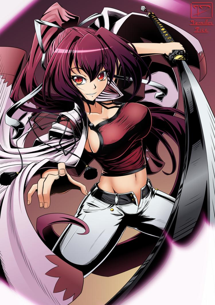 Yuzuriha - Inked by VermillionDice