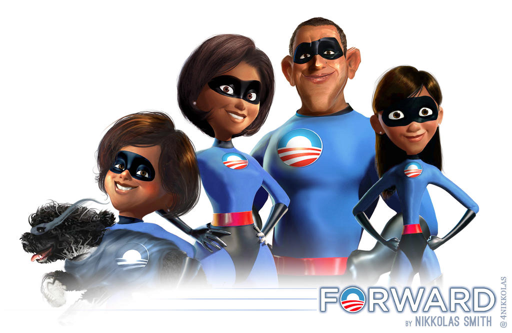 The Incredible Obamas... and BO! by Nikkolas-Smith