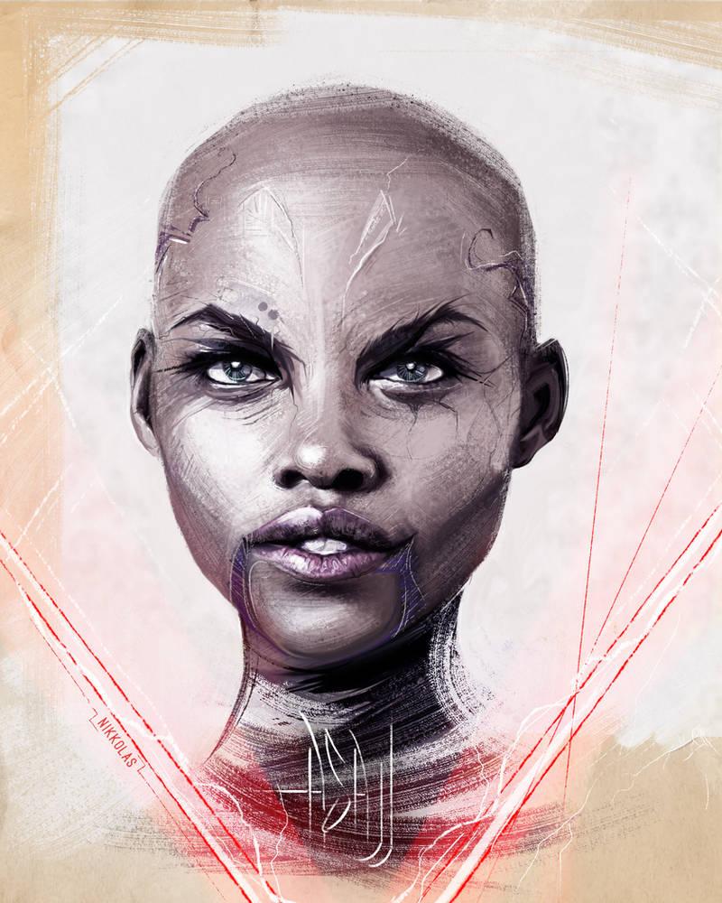 Lupita Nyongo Asajj Ventress STAR WARS by NIKKOLAS by Nikkolas-Smith