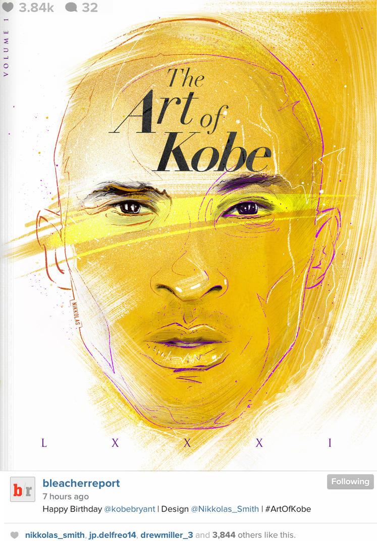 81...  by Nikkolas Smith... Happy Birthday Kobe! by Nikkolas-Smith