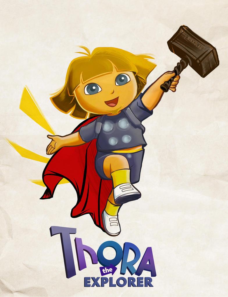 Thora The Explorer by Nikkolas Smith by Nikkolas-Smith