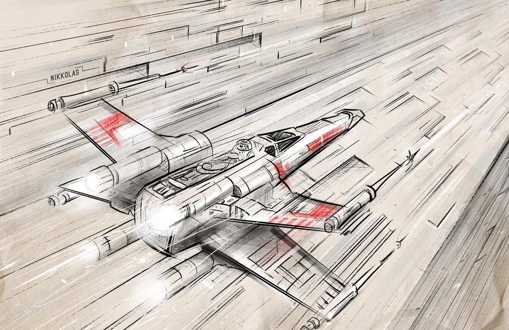 Star Wars X Wing by Nikkolas Smith by Nikkolas-Smith