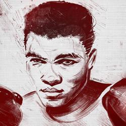 Float..Sting..Repeat. RIP Muhammad Ali by Nikkolas