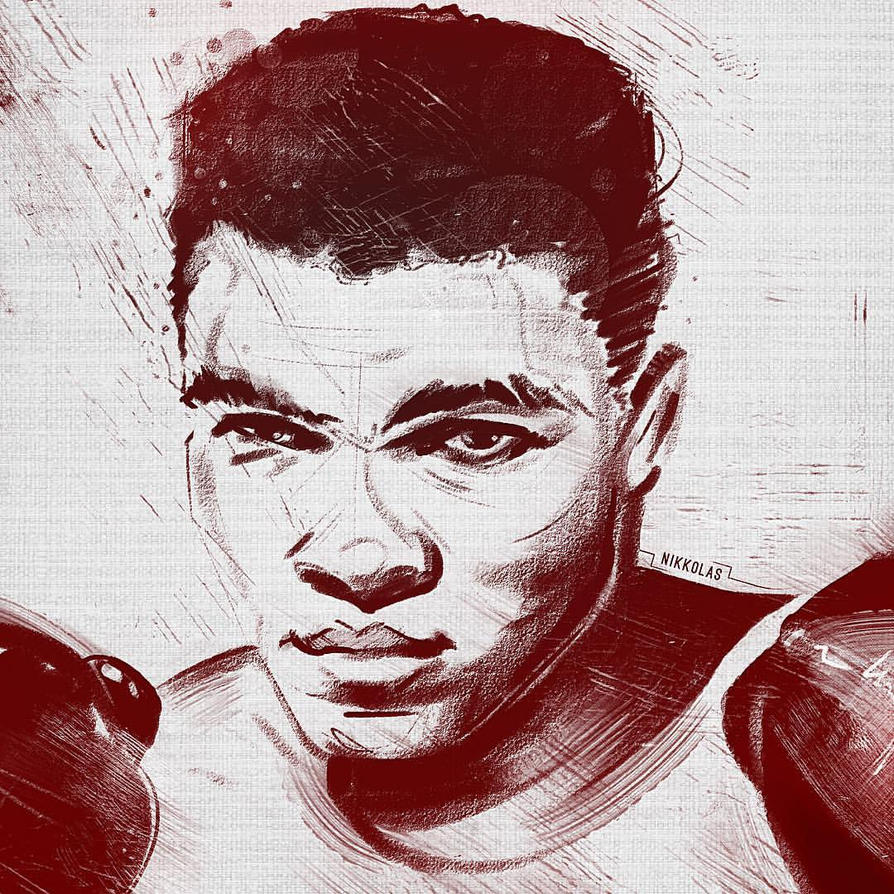 Float..Sting..Repeat. RIP Muhammad Ali by Nikkolas by Nikkolas-Smith