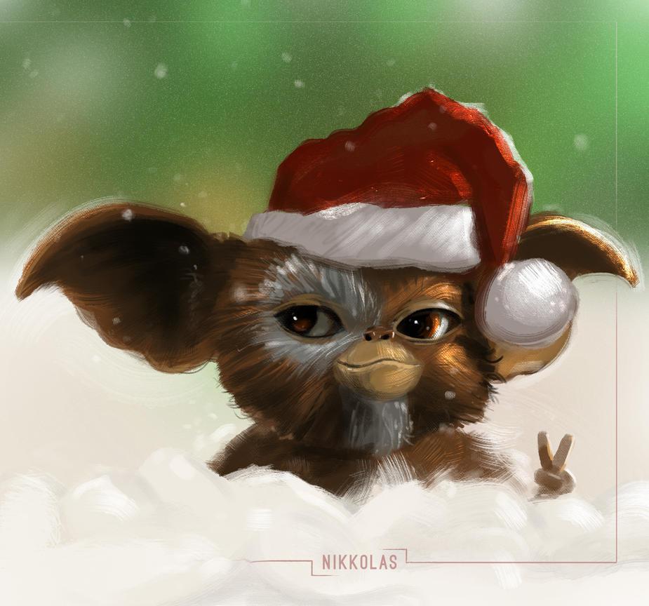 Merry Christmas Gizmo by Nikkolas Smith by Nikkolas-Smith