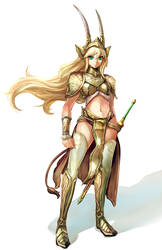 Antelope Swordswoman by SuoniMac