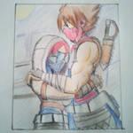 Rare! Striders Hugging.