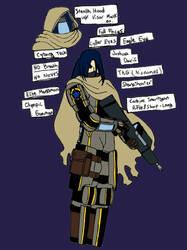 Tag, The Cyborg Sniper by TFSU-Samano