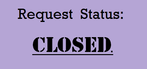 Request Status Closed by JayPixels