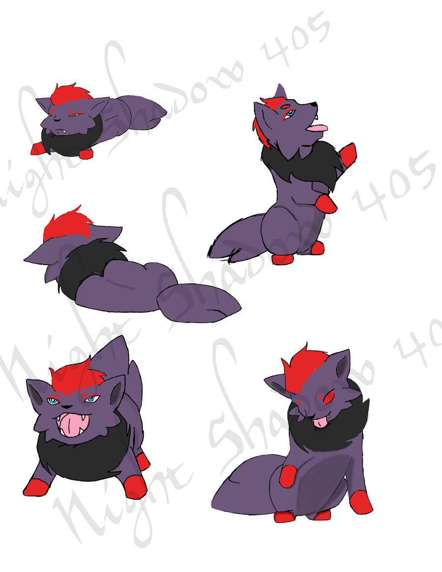 Page o Zorua Doodles by Night-Shadow405