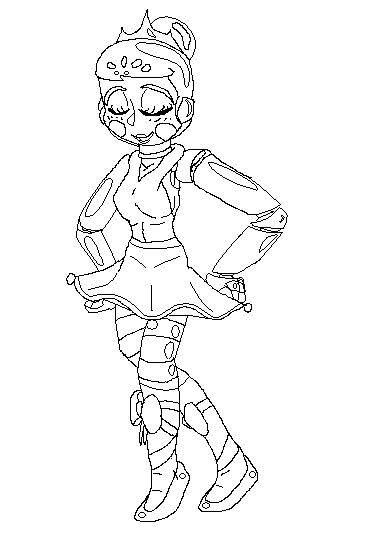 Ballora Uncolored By Lilllyeevee On Deviantart