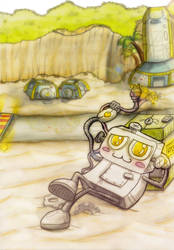 Robotel Reloaded - Chilling by Robo-Comicstar