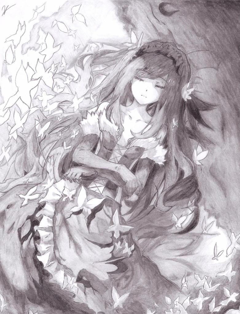 Anime Drawing Accel World Kuroyukihime By Sukendo On