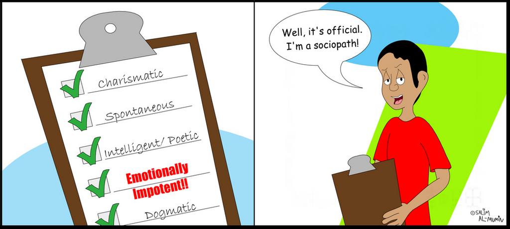 sociopathic checklist by theunisonreturns on deviantart