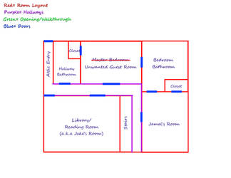 Jamal's House- Upstairs Floor Plan