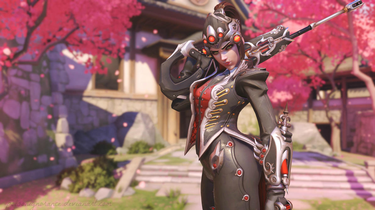 Overwatch Hanamura - Widowmaker by PoisonIgnorance