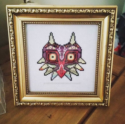 Majoras Mask Cross Stitch by PoisonIgnorance