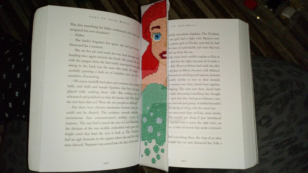 Disney Ariel Bookmark by PoisonIgnorance