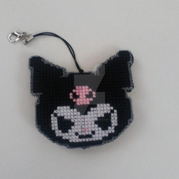 Kuromi Cross Stitch Charm by PoisonIgnorance