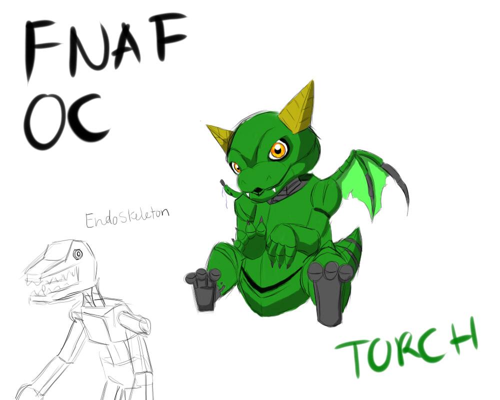 Fnaf Oc Torch The Baby Dragon By Terra Grace On Deviantart
