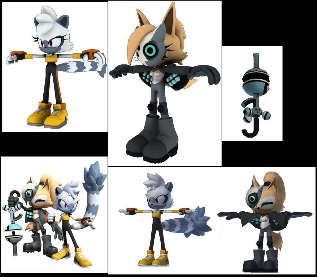 Tangle And Whisper Sega Sonic Dash Models Upgrade By Darkhedgehog23 On Deviantart