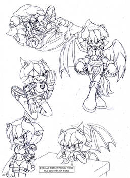 Ame Demon hedgehog in her old outfits