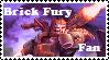 Brick Fury Fan Stamp by BobBricks