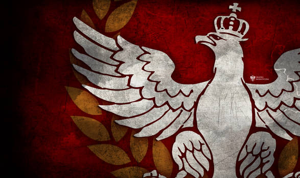 White Eagle with crown patriotic wallpaper