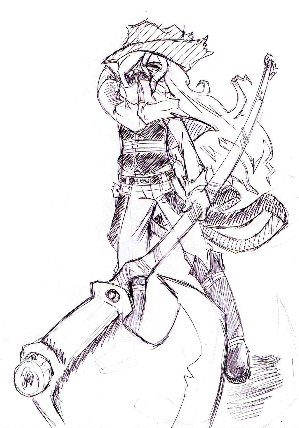 sketch  bloodborne oc helga 2 by neloku on deviantart
