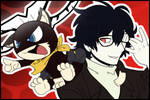 Fanart: Mona and Joker