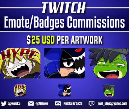 Twitch Emote/Badge Commission: Open
