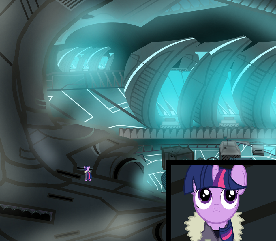The Pony Thing: Twilight inside the spaceship by aohoshi2008